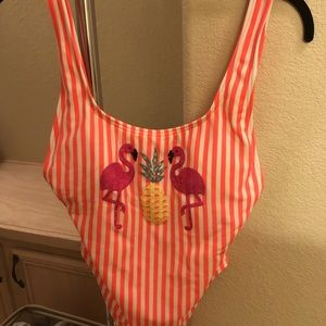 Coco Rave Swim - Pink and White striped swimsuit